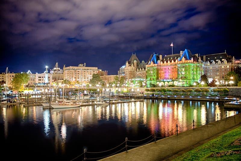 Vista del puerto hermoso de Victoria, isla de Vancouver, A.C., Canadá fotografía de archivo libre de regalías