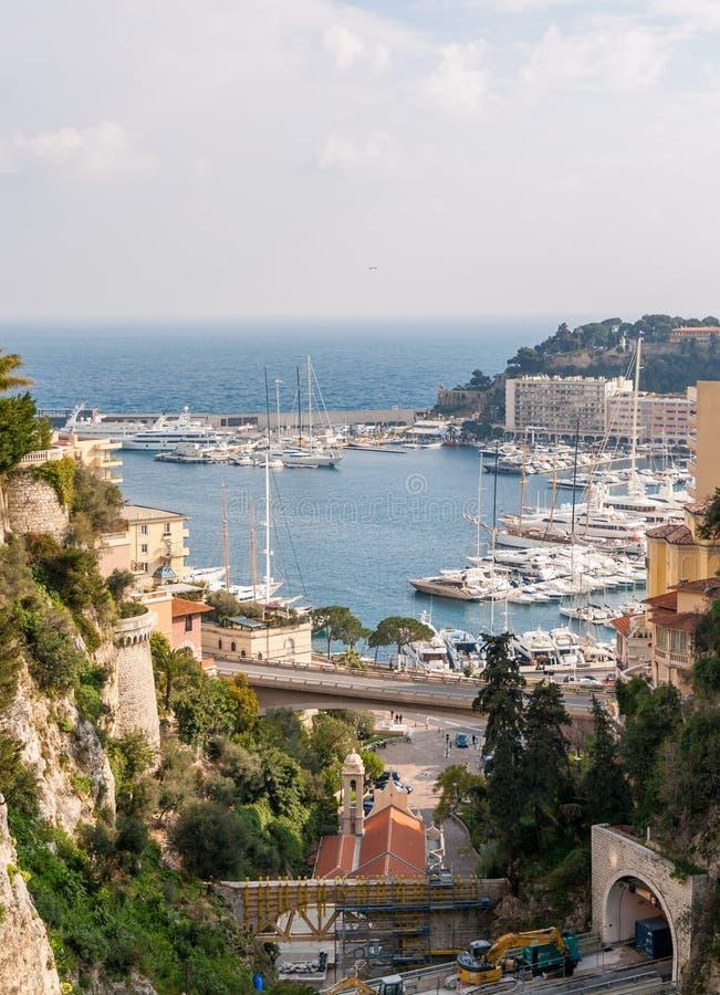 Vista del puerto marítimo en Mónaco imágenes de archivo libres de regalías