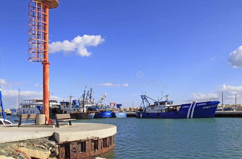Vista del puerto viejo de Limassol fotos de archivo libres de regalías