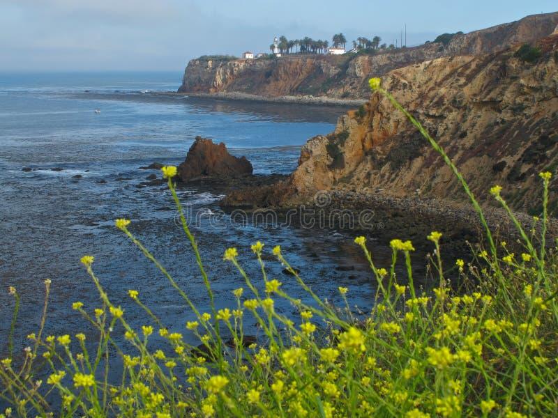 Vista del punto Vicente en Palos Verdes Peninsula en California fotos de archivo