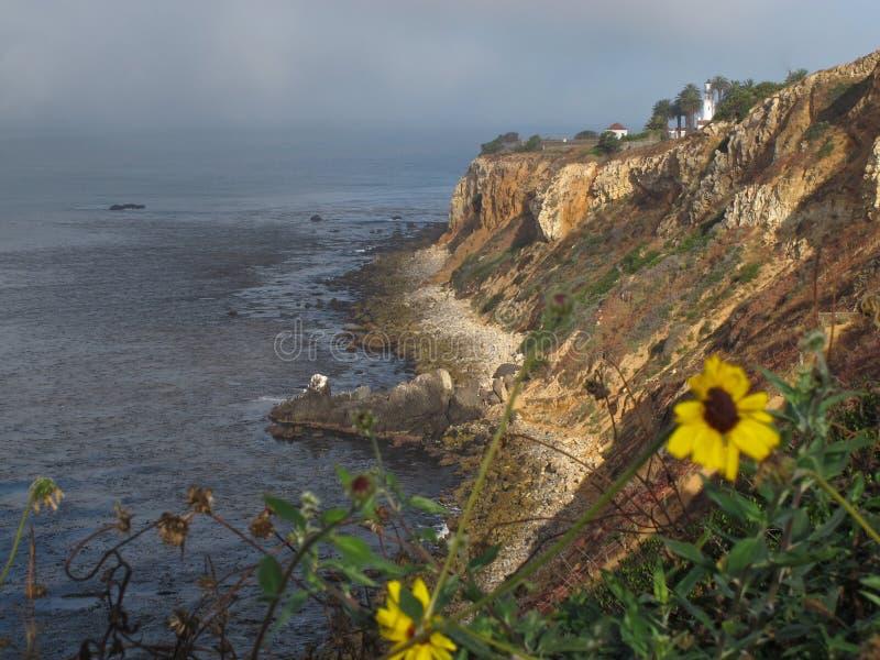 Vista del punto Vicente en Palos Verdes Peninsula en California foto de archivo libre de regalías