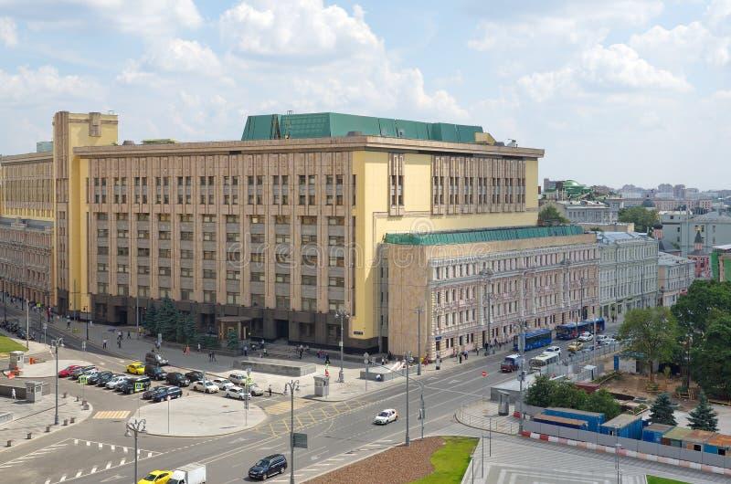 Vista del quadrato di Lubyanskaya a Mosca, Russia fotografia stock