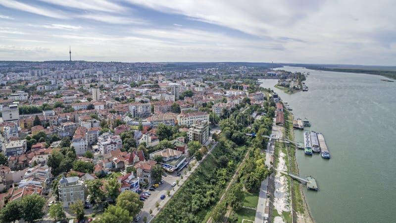 Vista del río Danubio desde arriba imagen de archivo