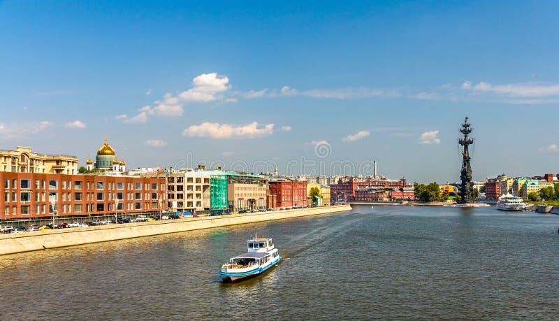 Vista del río de Moskva en Moscú, Rusia fotografía de archivo libre de regalías