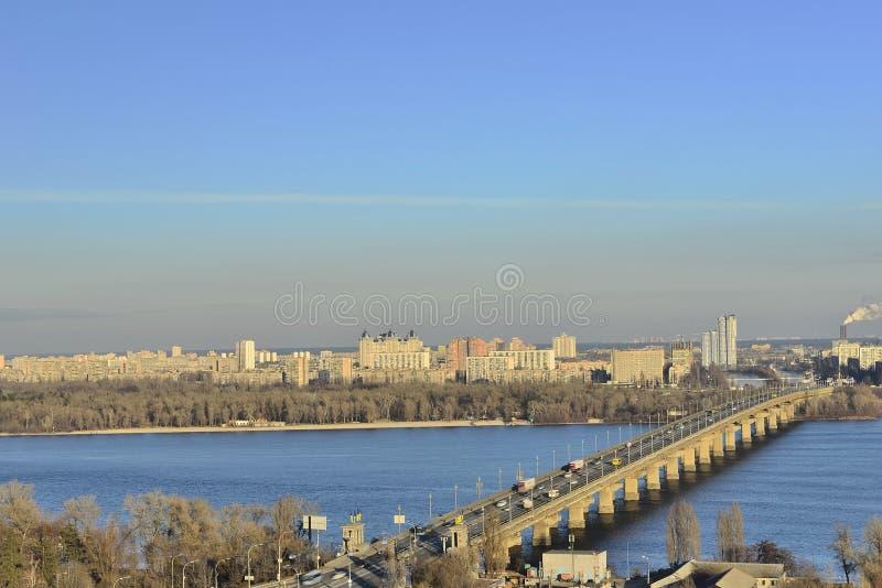 Vista del río Dnieper imágenes de archivo libres de regalías