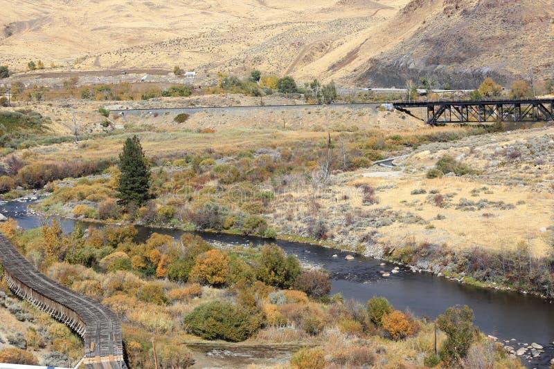 Vista del río Truckee fotografía de archivo libre de regalías