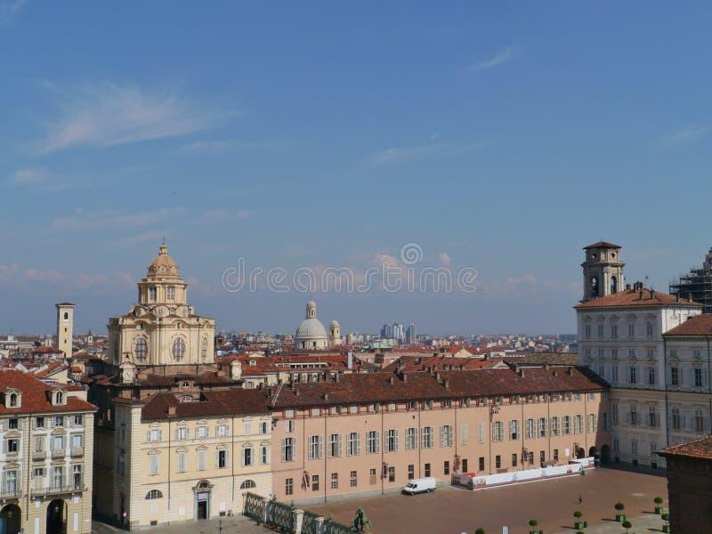 Vista del reale de Piazetta en Turín foto de archivo