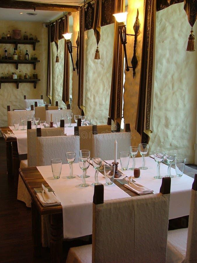 Vista del ristorante immagine stock