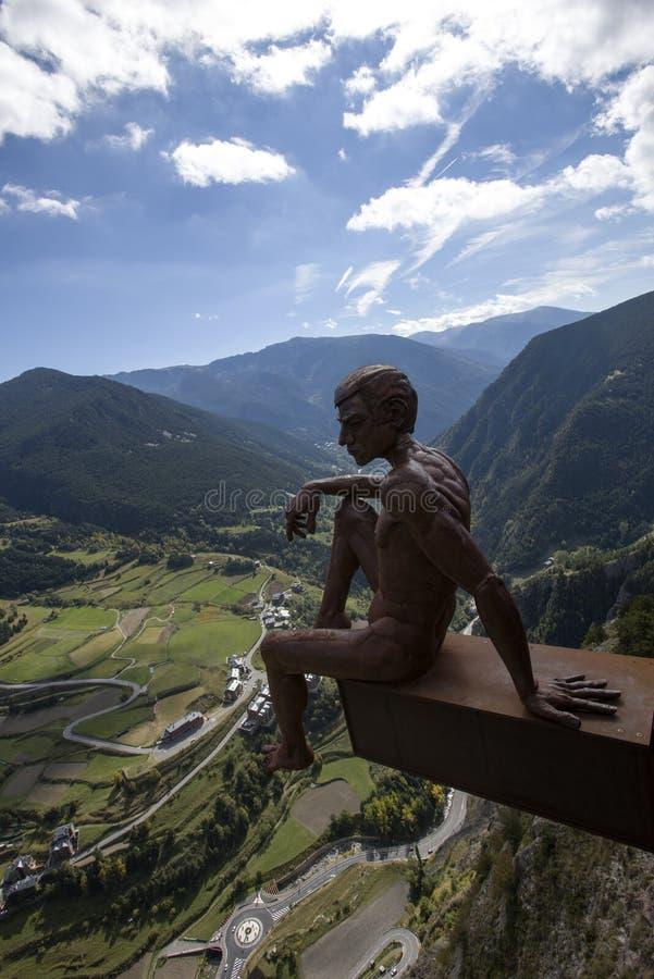 Vista del del Roc del Quer, Andorra de Mirador imagenes de archivo