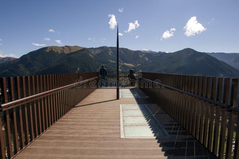 Vista del Roc del Quer, Andorra di Mirador fotografia stock libera da diritti