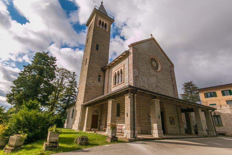 Vista del Santuario de Nostra Signora De La Salette en Salmata, Umbría, Italia fotos de archivo libres de regalías