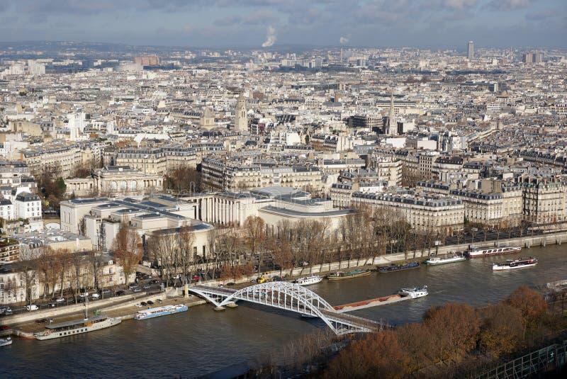 Vista del sity París de la torre Eiffel imagenes de archivo