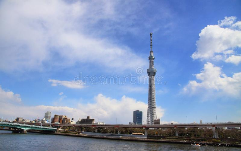 Vista del skytree de Tokio fotos de archivo libres de regalías