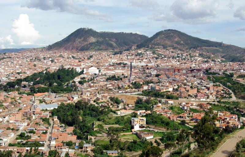 Vista del sucre, Bolivia fotografía de archivo