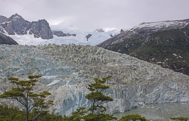 Vista del sud di Glaicer da sopra immagine stock