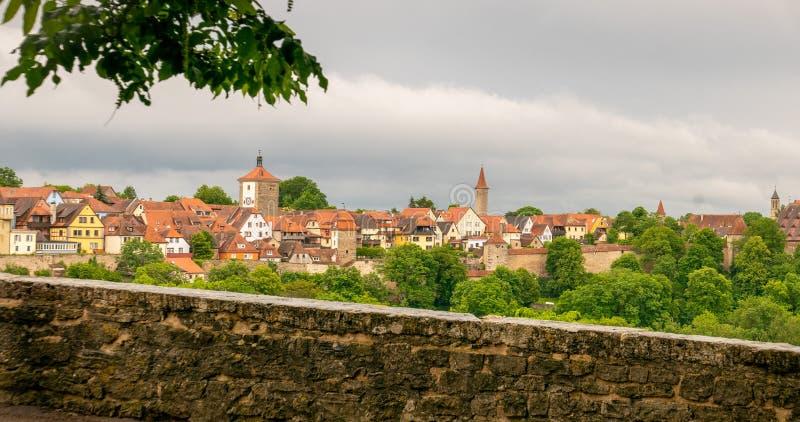 Vista del sud di Rothenburg fotografie stock libere da diritti