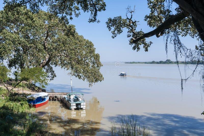 Vista del tana del lago cerca del bahir Etiopía dar fotografía de archivo