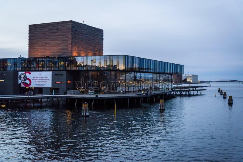 Vista del teatro danés real, Copenhague, Dinamarca fotos de archivo