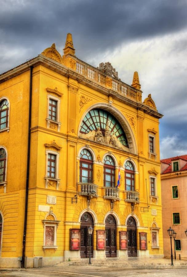 Vista del teatro nazionale croato fotografia stock