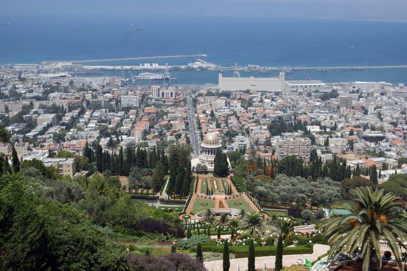 Vista del tempio di Bahai immagini stock