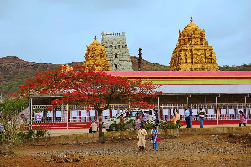 Vista del tempio di Prati Balaji, Narayanpur immagini stock libere da diritti