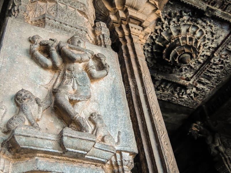Vista del tempio di Sri Jalakandeswarar in Vellore fotografia stock libera da diritti