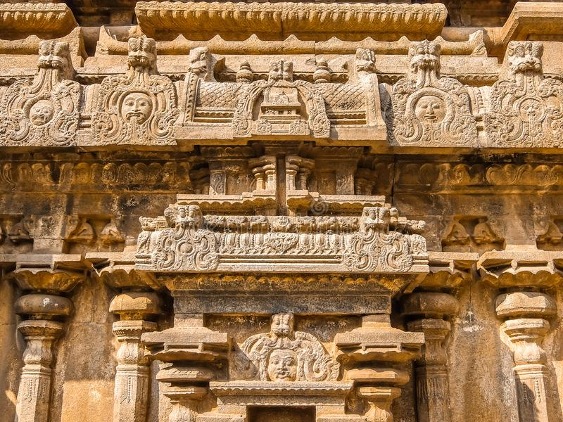 Vista del tempio di Sri Jalakandeswarar in Vellore immagine stock