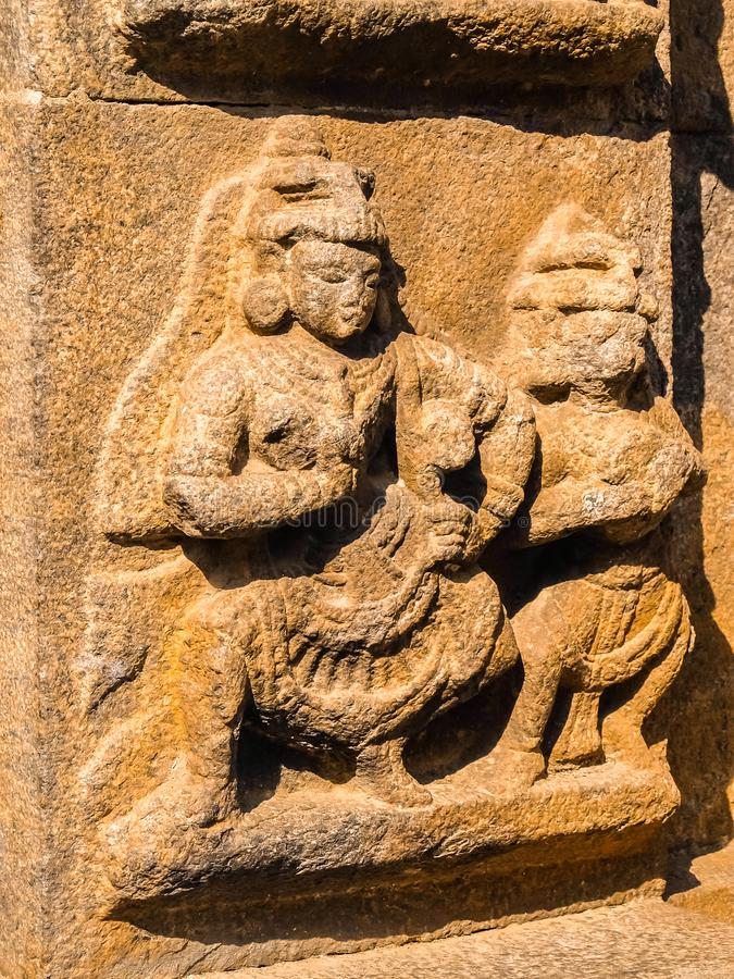 Vista del tempio di Sri Jalakandeswarar in Vellore immagini stock libere da diritti
