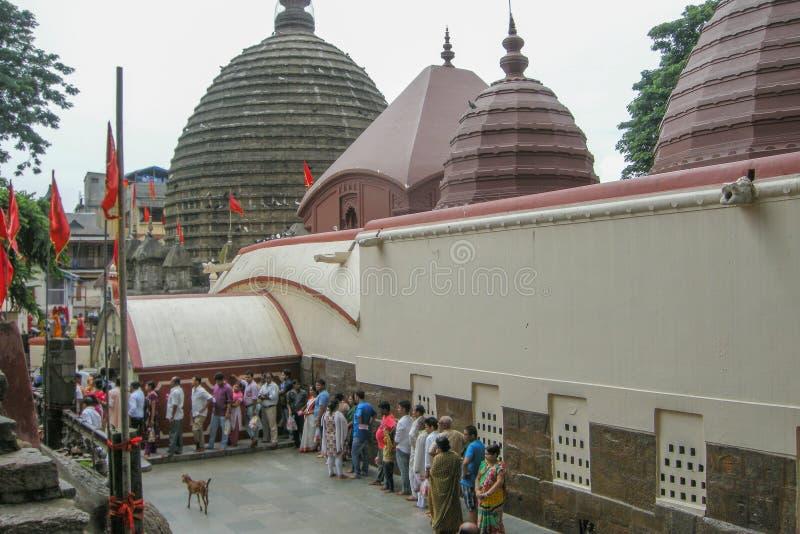 Vista del templo de Kamakhya, Guwahati, Assam foto de archivo