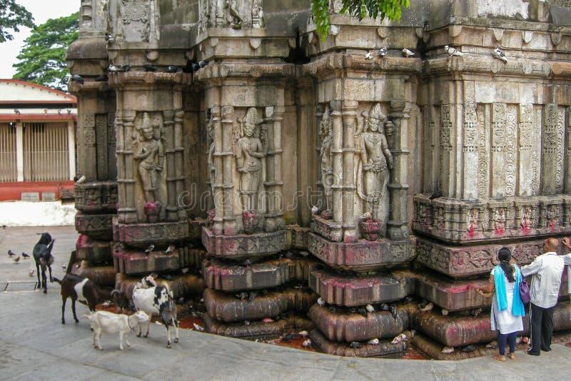 Vista del templo de Kamakhya, Guwahati, Assam imagen de archivo
