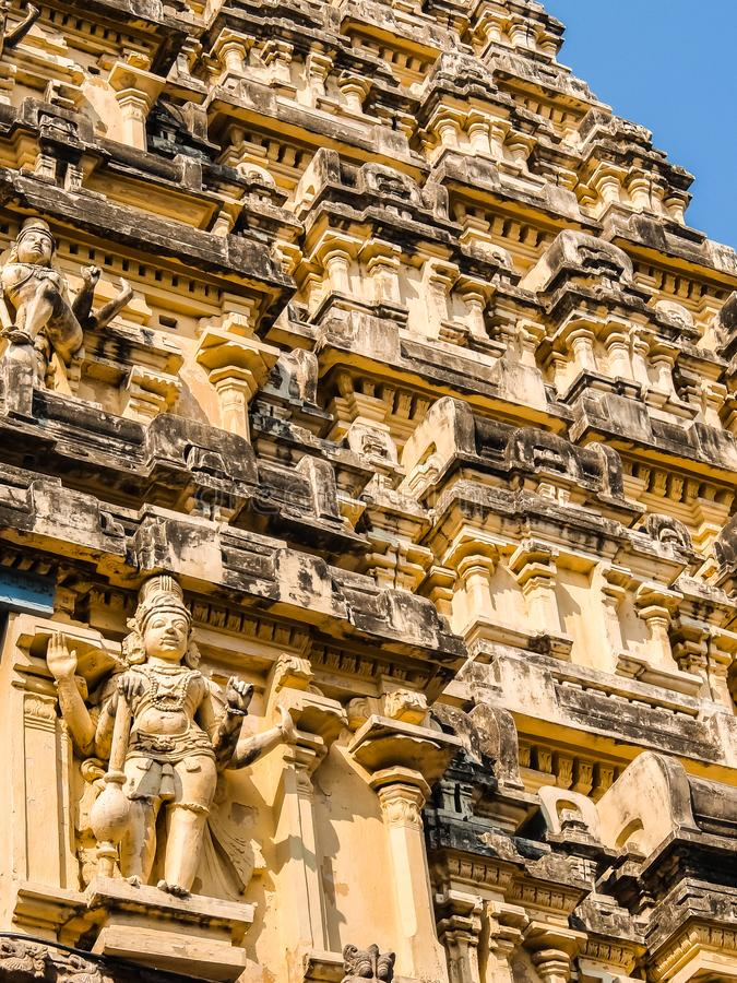 Vista del templo de Sri Jalakandeswarar en Vellore fotos de archivo libres de regalías