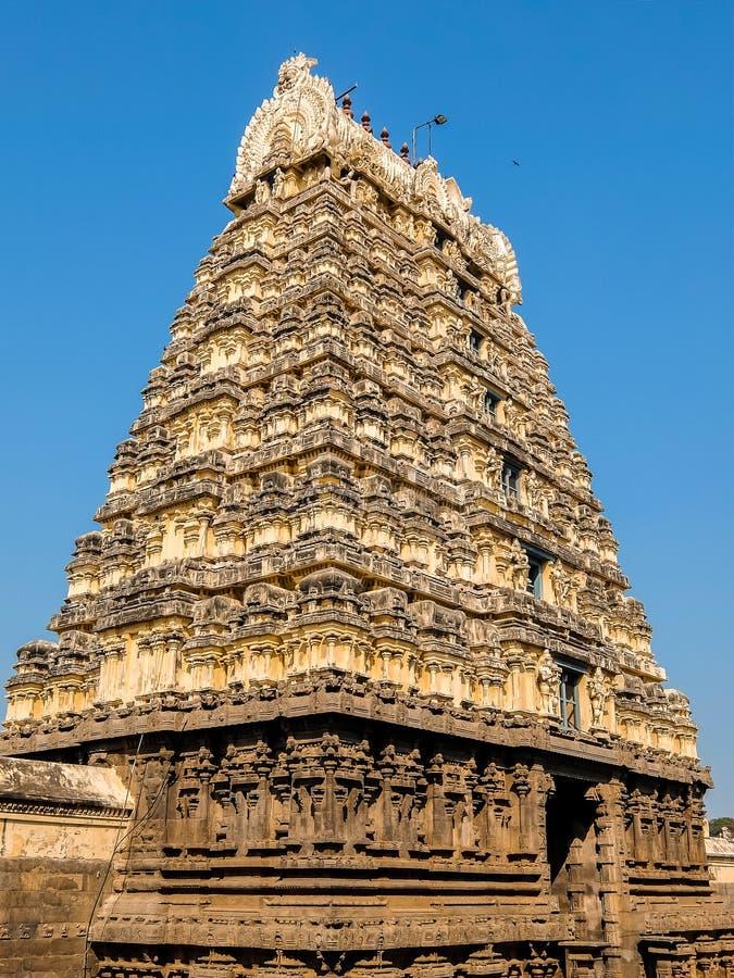 Vista del templo de Sri Jalakandeswarar en Vellore fotografía de archivo libre de regalías