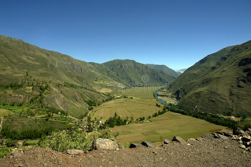 Vista del valle sagrado imagen de archivo