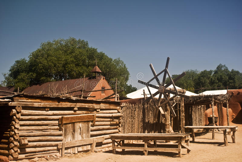 Vista del villaggio coloniale spagnolo immagine stock libera da diritti