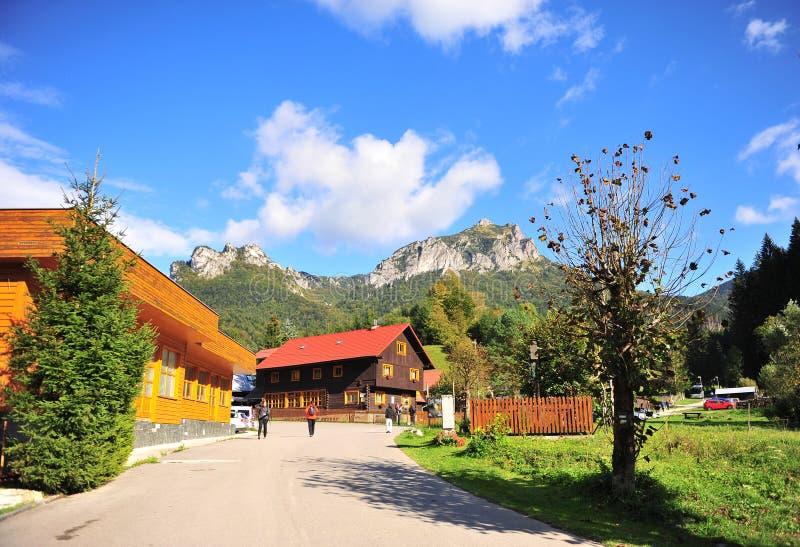 Vista del villaggio di Terchova in Slovacchia centrale fotografie stock libere da diritti