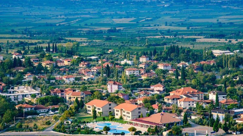 Vista del villaggio turco immagini stock libere da diritti