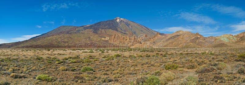 Vista del volcán del teide del EL foto de archivo