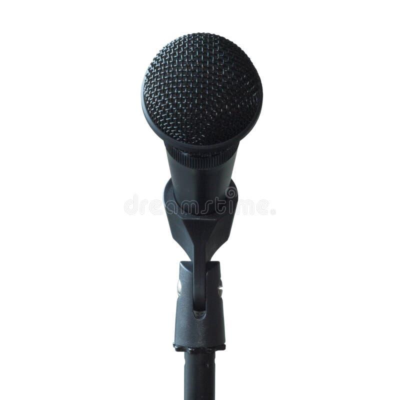 Vista delantera aislada micrófono fotografía de archivo libre de regalías