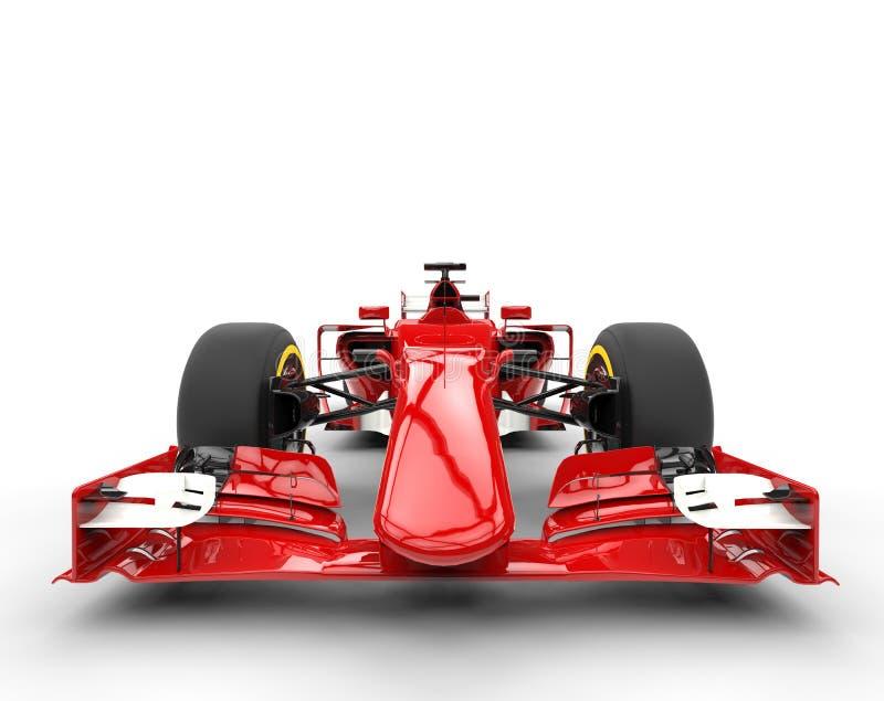 Vista delantera automotriz del Fórmula 1 rojo fotos de archivo libres de regalías