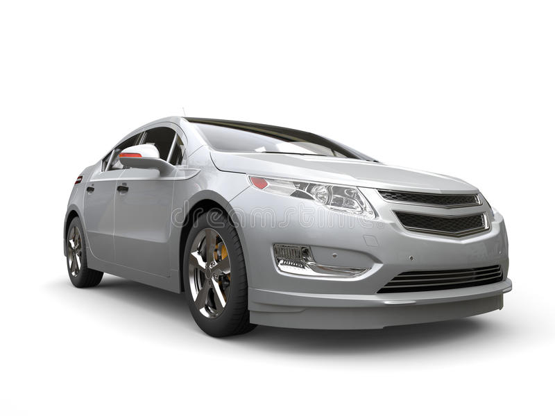 Vista delantera automotriz moderna eléctrica de plata libre illustration