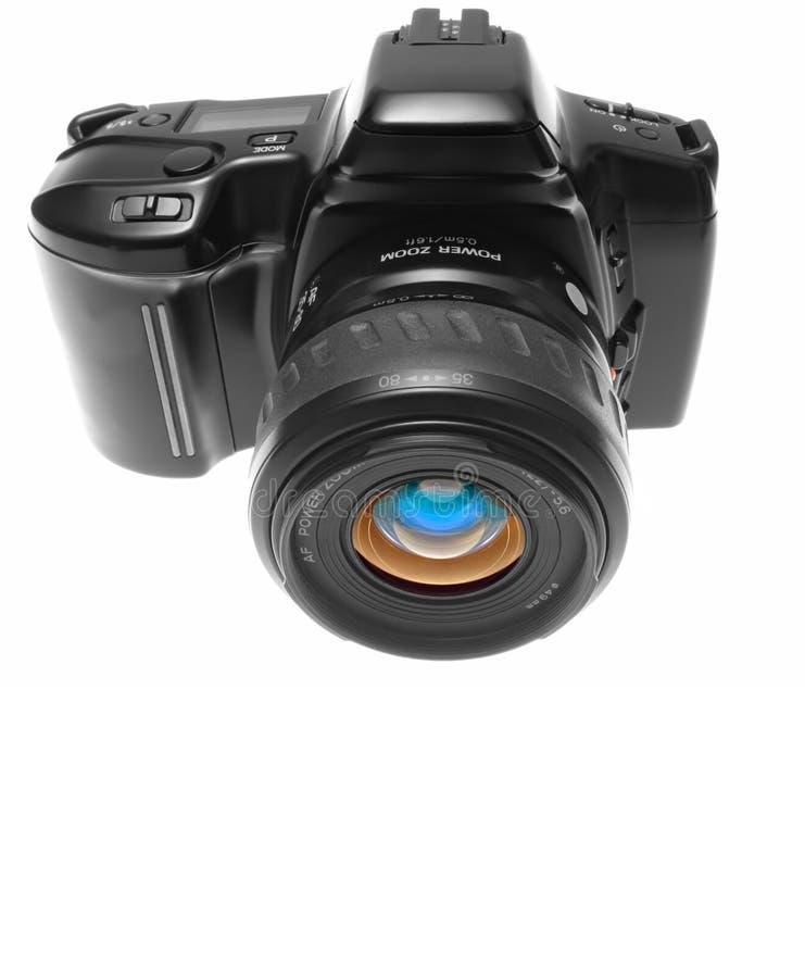 Vista delantera de la cámara de SLR imágenes de archivo libres de regalías