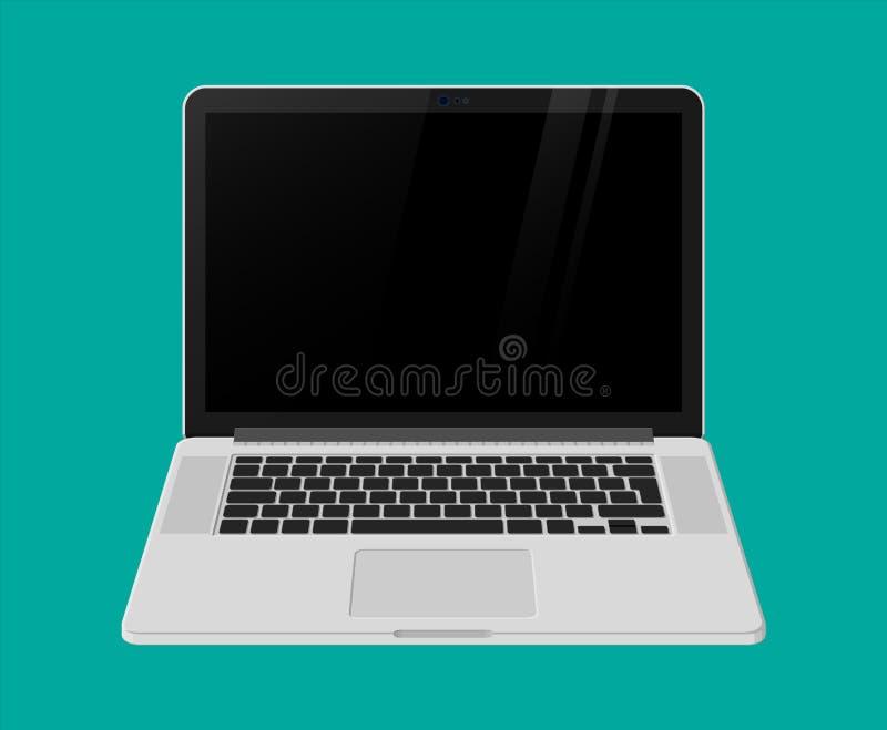 Vista delantera de la computadora portátil Ordenador móvil Cuaderno libre illustration