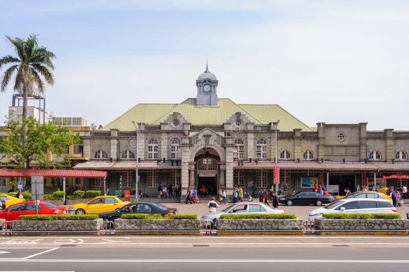 Vista delantera de la estación de tren de hsinchu fotos de archivo libres de regalías