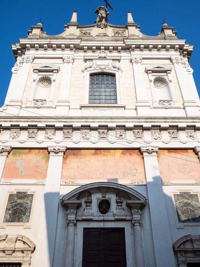 vista delantera de la iglesia Sant Alessandro della Croce imágenes de archivo libres de regalías