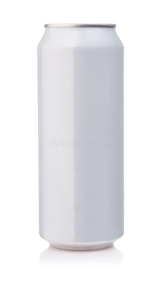 Vista delantera de la poder de aluminio blanca imagen de archivo