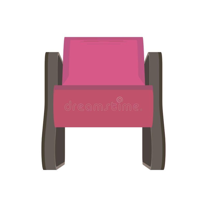Vista delantera de la silla del ejemplo rosado moderno del vector stock de ilustración