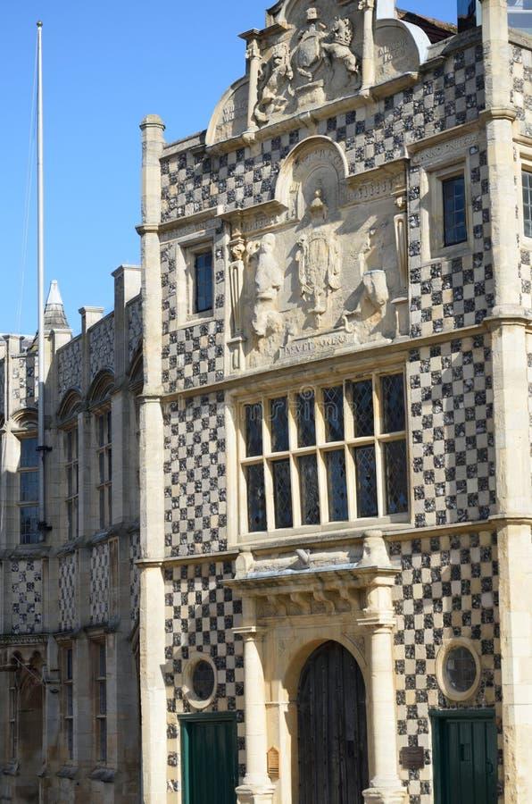 Vista delantera de reyes Lynn Guildhall imágenes de archivo libres de regalías
