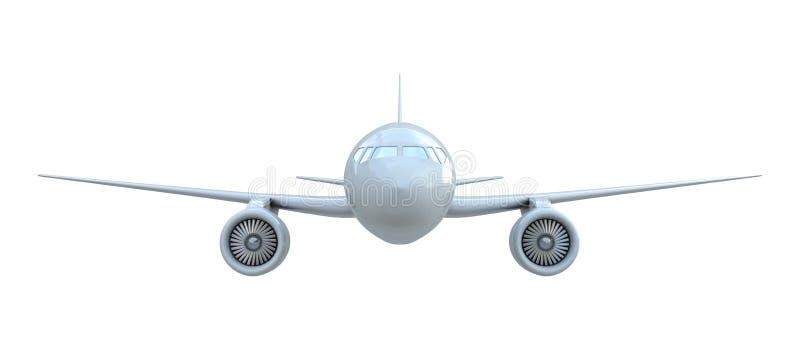 Vista delantera del aeroplano stock de ilustración