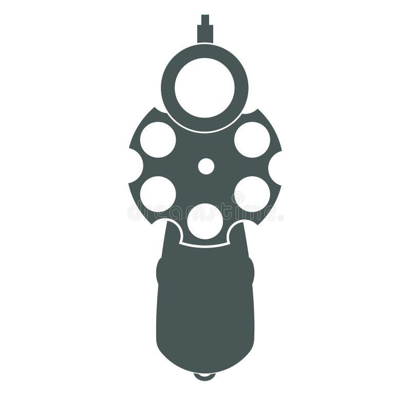 Vista delantera del arma retro libre illustration