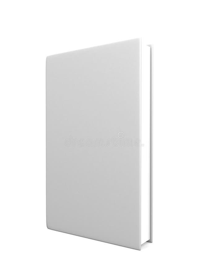 Vista delantera del blanco en blanco de la cubierta de libro imagen de archivo libre de regalías